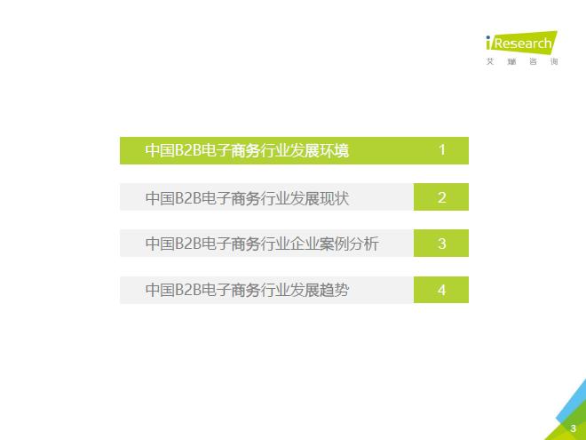 艾瑞咨询:2016年中国B2B电子商务行业研究报告-今日报告