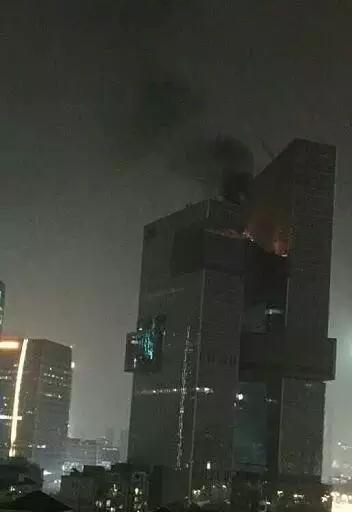 腾讯在建新大楼着火?官方称已扑灭,无人员伤亡