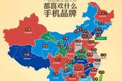被代表了么? 一张图看34省网友都喜欢啥手机品牌