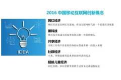 2016中国移动互联网5大创新概念与7大创新技术盘点