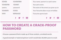 英国网络安全专家教您创建令黑客犯难密码