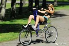 划船式自行车,让你在大街上浪起来
