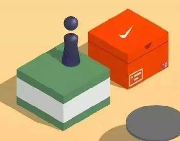 """耐克在微信""""跳一跳""""里面买了个盒子,一个2000万的nike鞋盒!"""