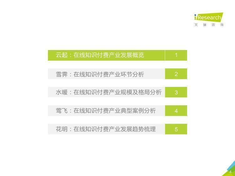 艾瑞咨询:2018年中国在线知识付费市场研究报告