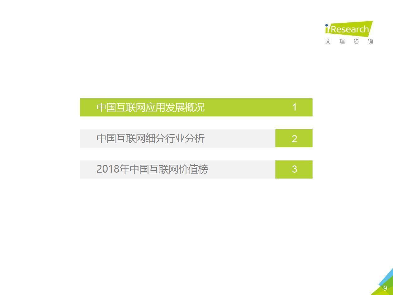 """018年中国互联网流量年度数据报告"""""""