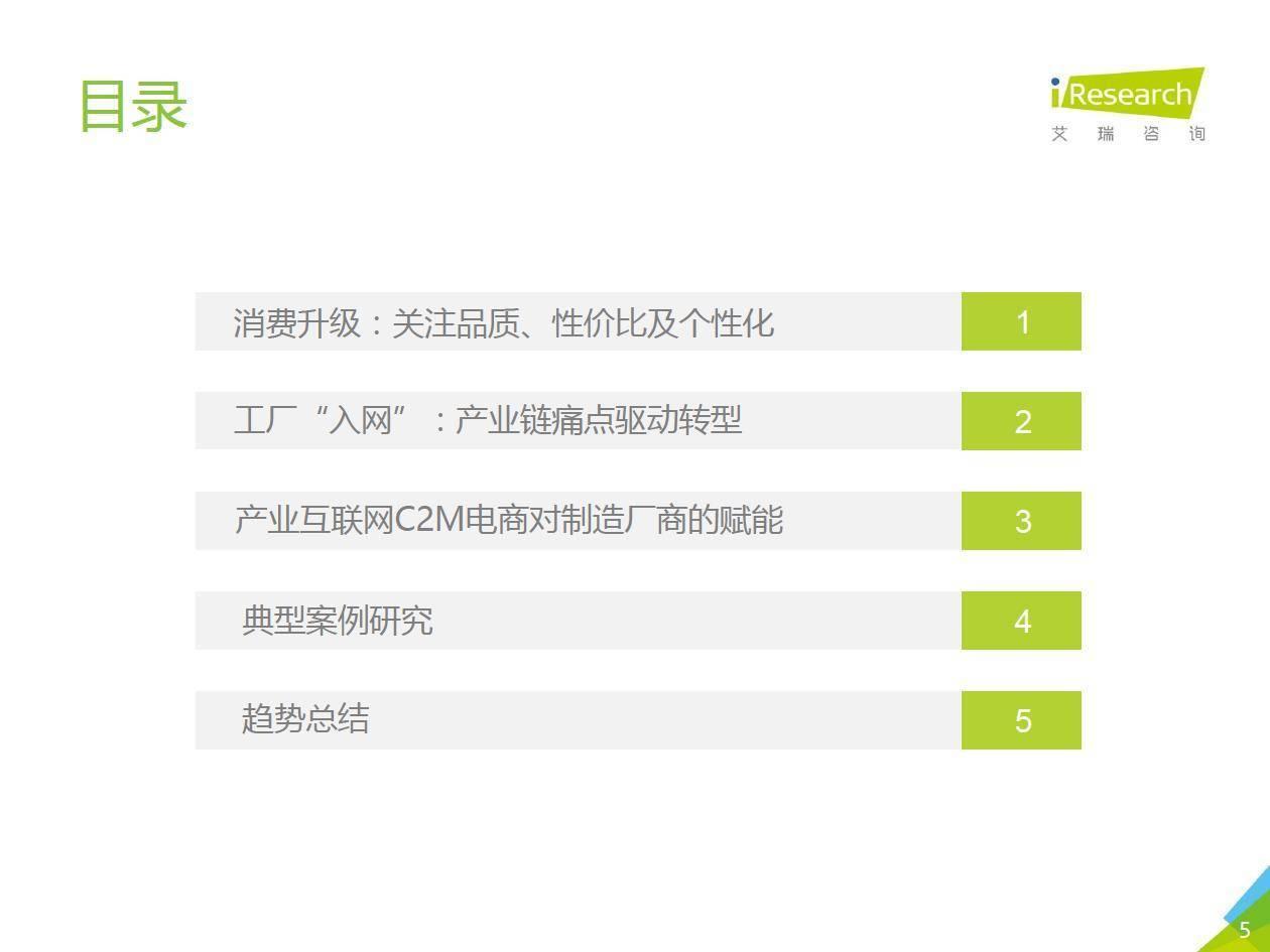艾瑞咨询:2019年中国制造业产业互联网C2M电商行业研究报告