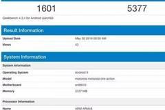 Moto One新机跑分曝光:搭载三星Exynos 9609处理器