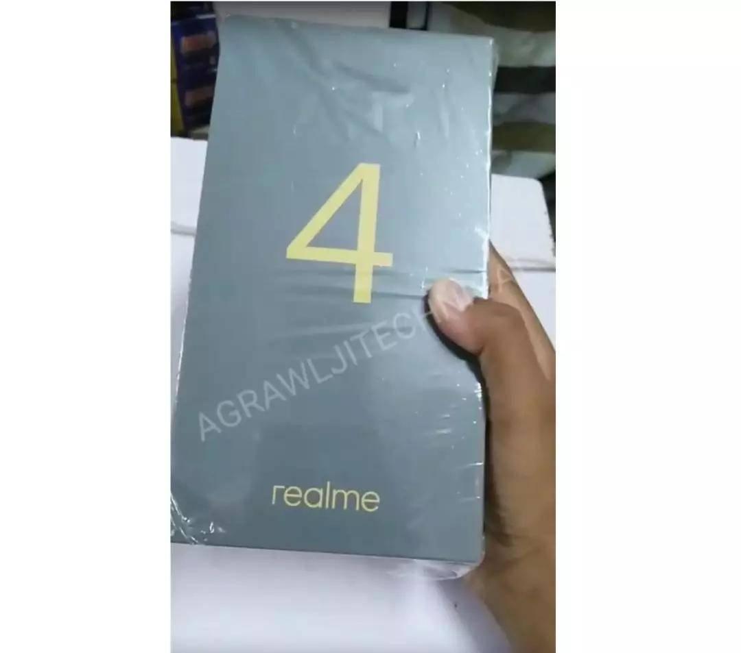 realme 4手機盒曝光:搭載聯發科P70