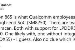 骁龙865规格曝光:内存闪存双提升+提供5G版本