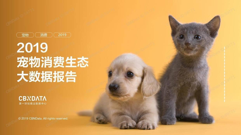 CBNData:2019宠物消费生态大数据报告