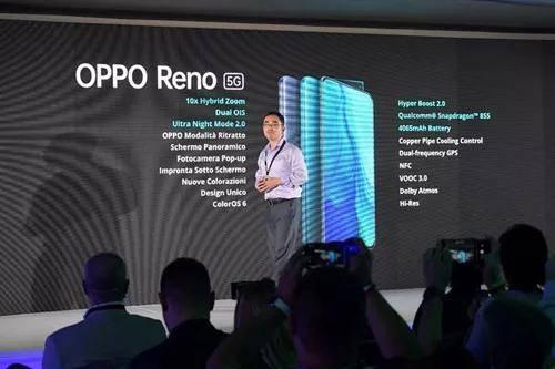 OPPO Reno 5G版本意大利正式发布 助力意大利开启5G时代