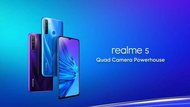 realme 5系列印度正式发布,骁龙712 + 4800万四摄!