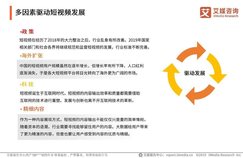 艾媒报告:2019中国短视频创新趋势专题研究报告