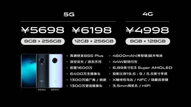 vivo NEX3 5G正式发布,99.6%超高屏占比瀑布屏加持,售价5698元起