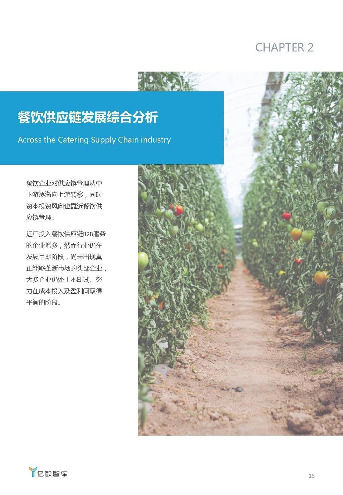 亿欧智库:2019餐饮供应链B2B服务行业研究报告