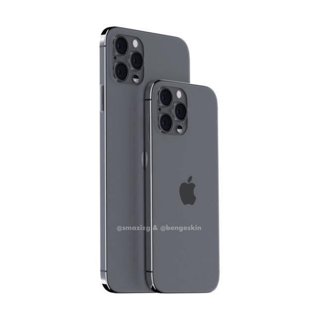 iPhone 12 Pro渲染图罕见流出, 刘海终于没了