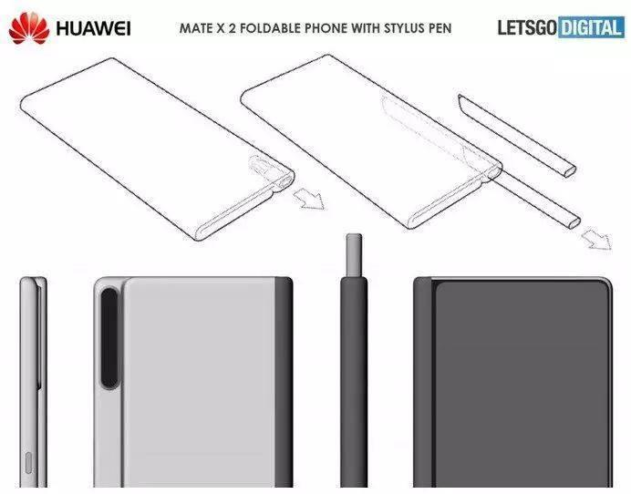 華為新款折疊屏手機設計圖公布:配備手寫筆