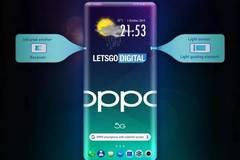 OPPO全新手機專利設計圖曝光:瀑布屏+屏下攝像頭