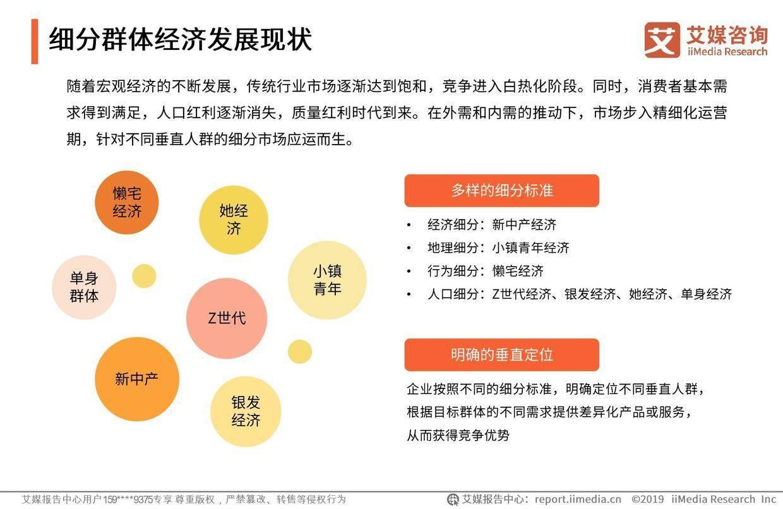 艾媒报告:2019中国互联网群体经济用户与消费行为研究报告