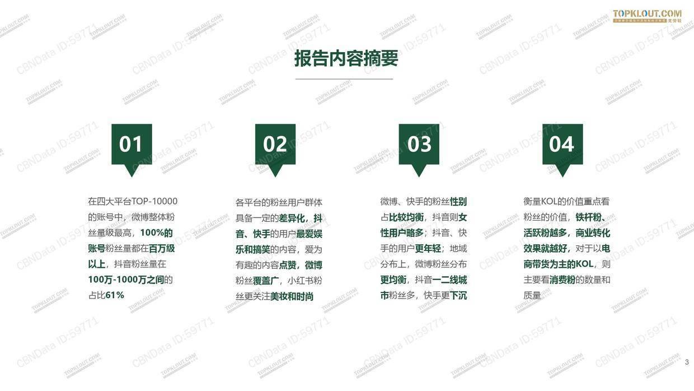 """020年看得见的粉丝价值:四大平台KOL粉丝分析研究报告"""""""