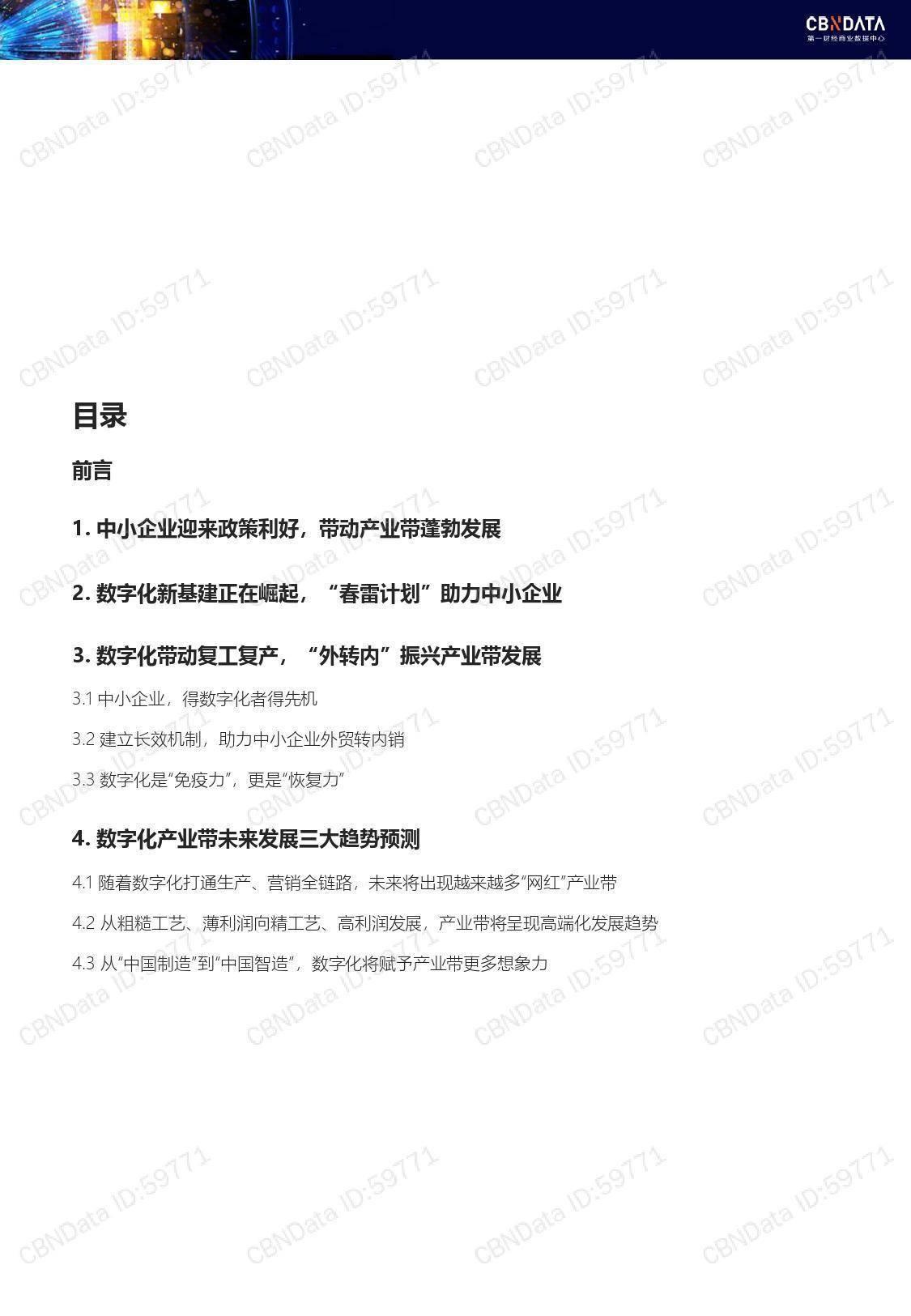 CBNData:2020中国产业带数字化发展报告