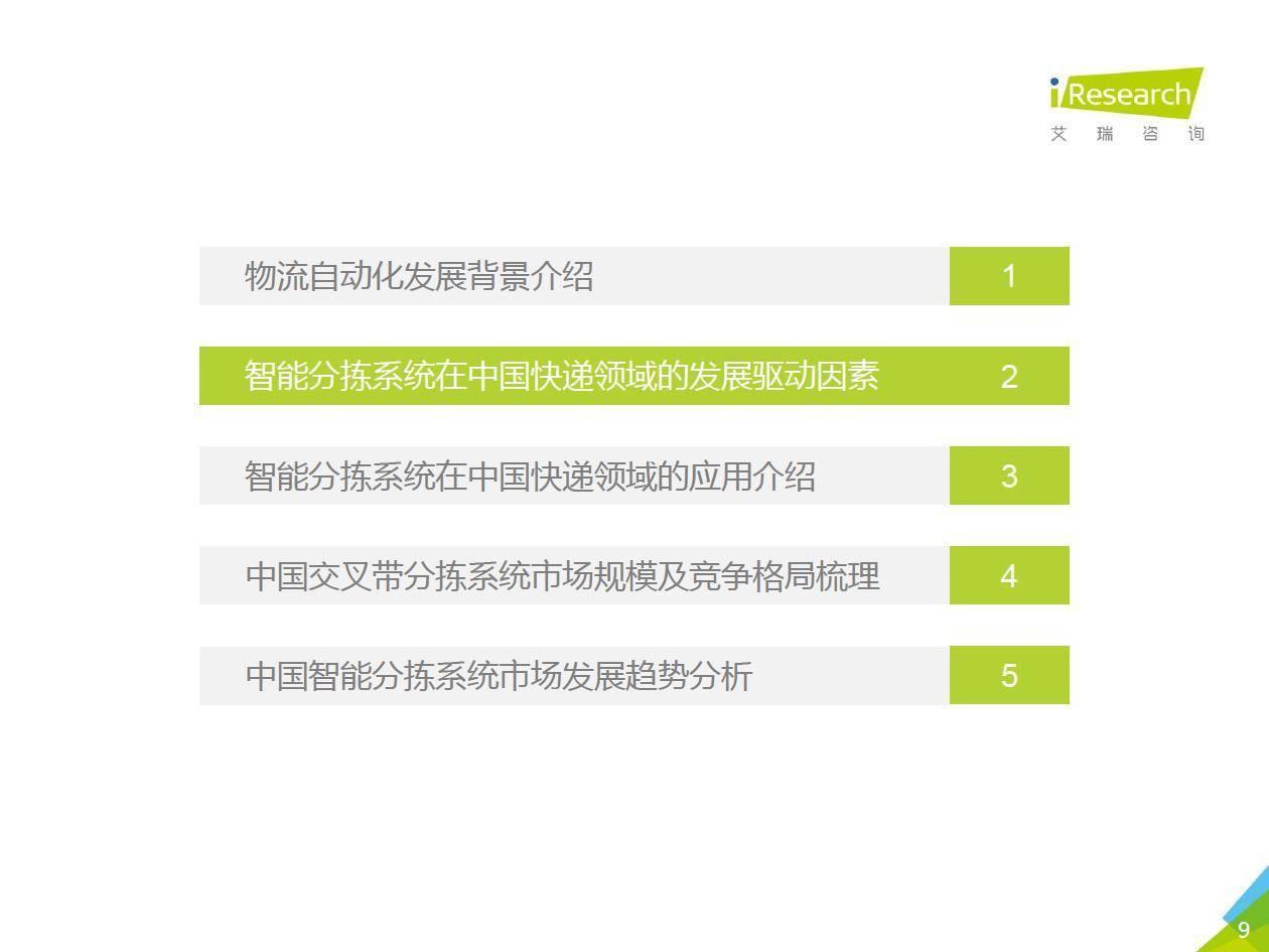 艾瑞咨询:2020年中国智能分拣行业研究报告