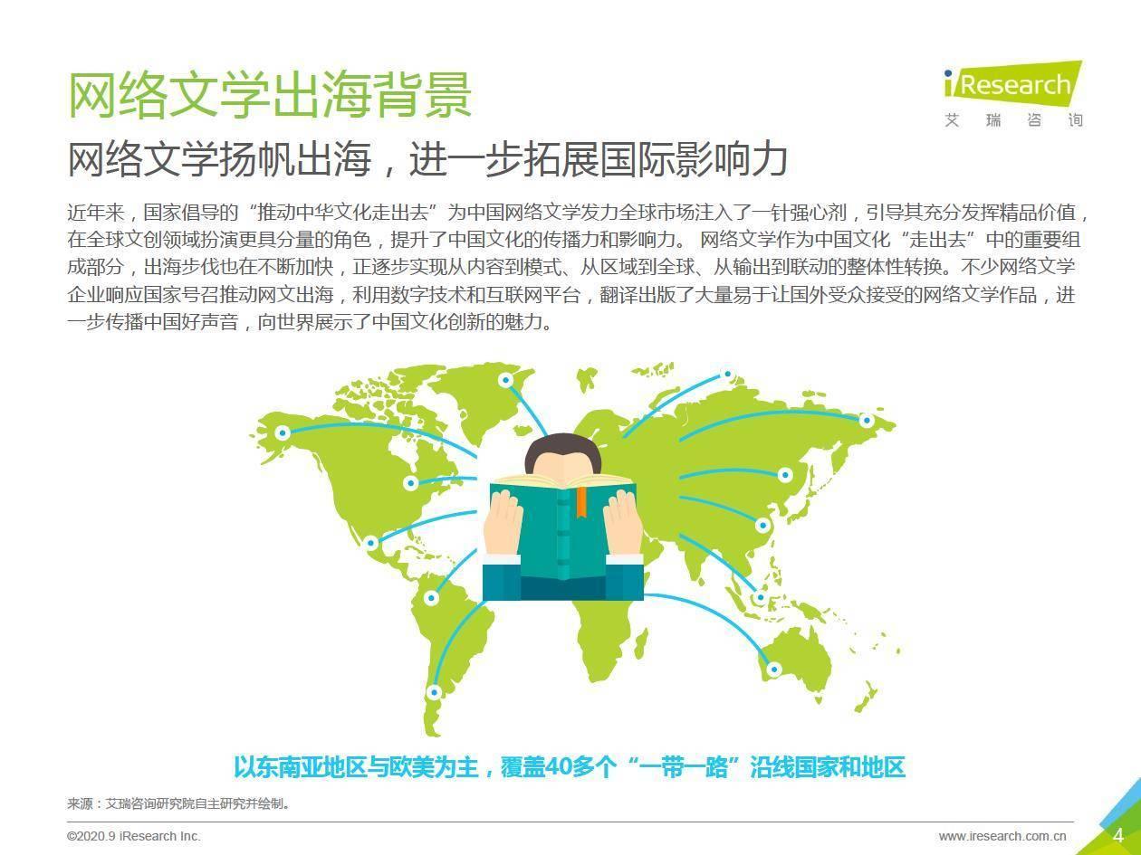 艾瑞咨询:2020年中国网络文学出海研究报告