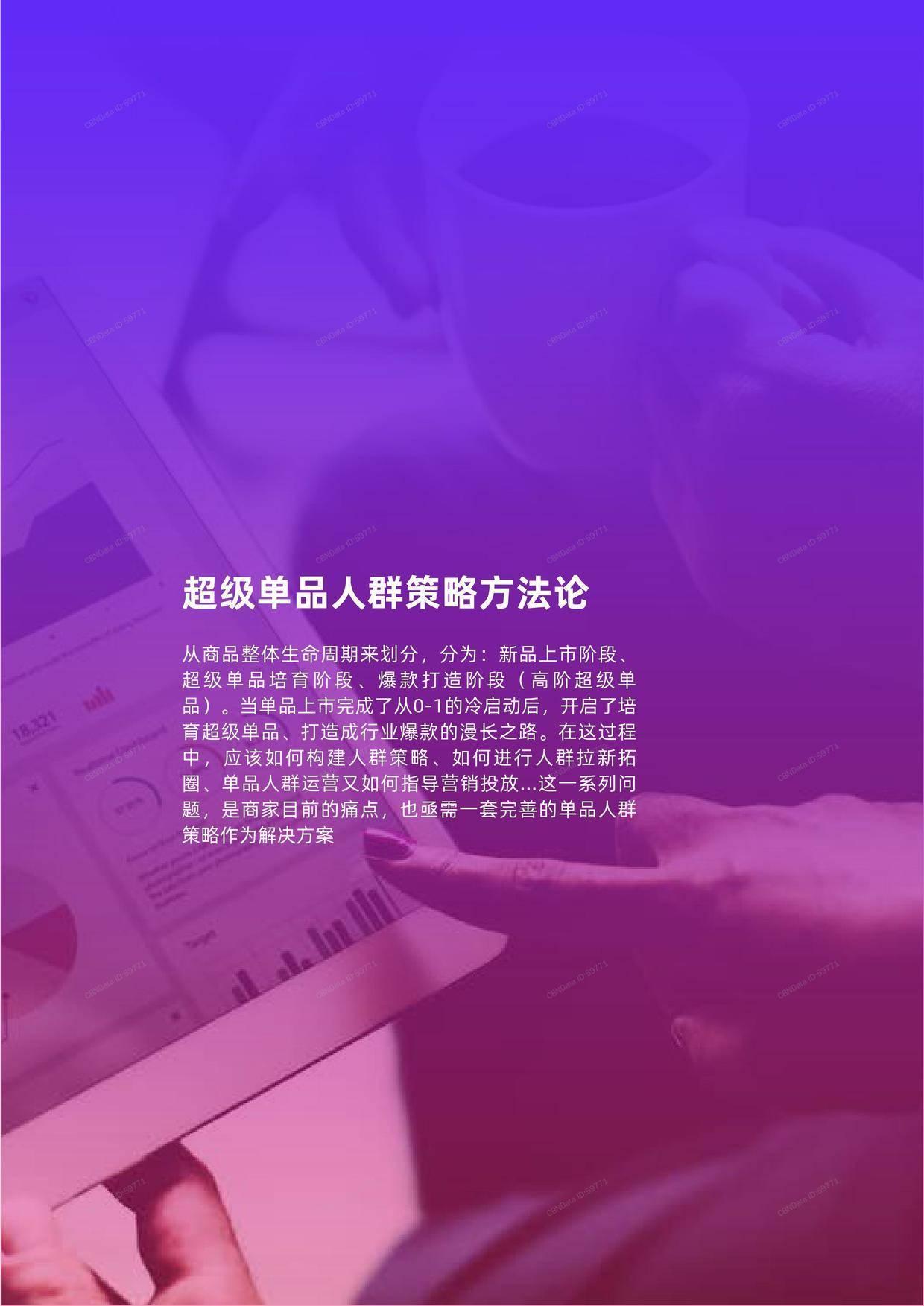 双11投资指南:超级单品人群策略洞察