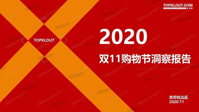 克劳锐:2020双11购物节洞察报告