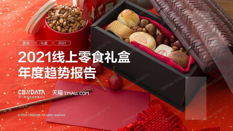 CBNData:2021线上零食礼盒年度趋势报告