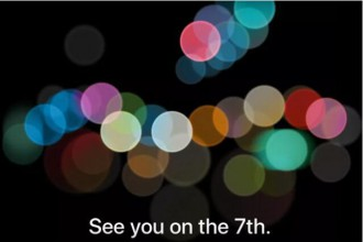 苹果发出邀请函:iPhone 7将于9月7日发布