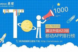 数据风向标:2017年1季度App TOP1000公布